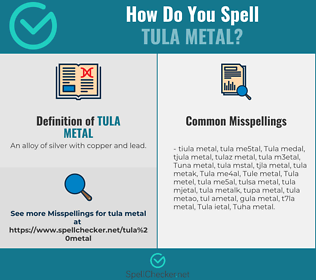 Correct spelling for Tula metal