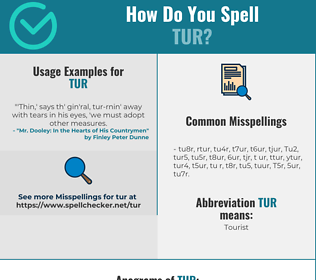 Correct spelling for Tur