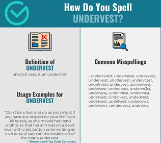 Correct spelling for Undervest