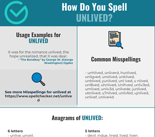Correct spelling for Unlived