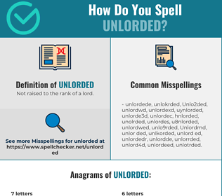 Correct spelling for Unlorded