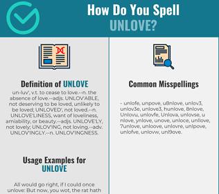 Correct spelling for Unlove
