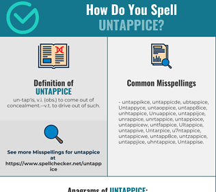 Correct spelling for Untappice