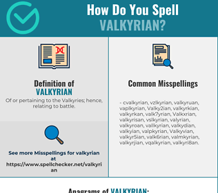 Correct spelling for Valkyrian