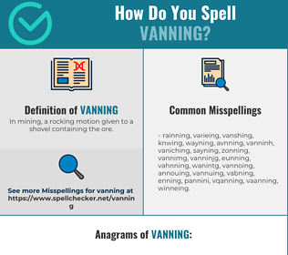 Correct spelling for Vanning