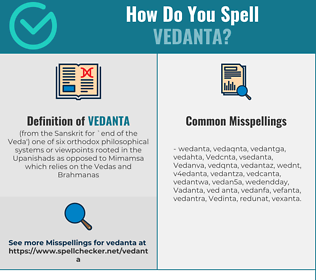 Correct spelling for Vedanta