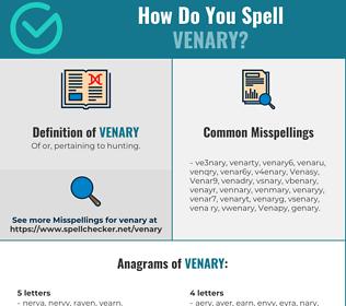 Correct spelling for Venary
