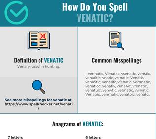 Correct spelling for Venatic
