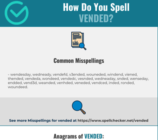 Correct spelling for Vended
