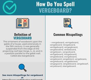 Correct spelling for Vergeboard
