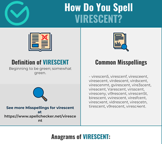 Correct spelling for Virescent