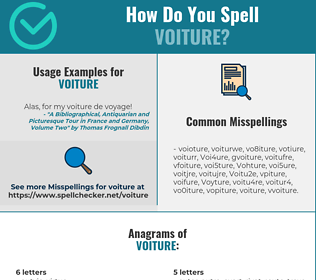 Correct spelling for Voiture