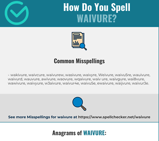 Correct spelling for Waivure