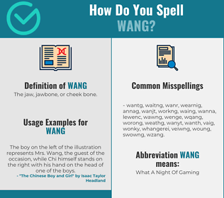 Correct spelling for Wang