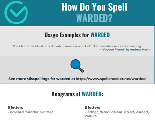 Correct spelling for Warded