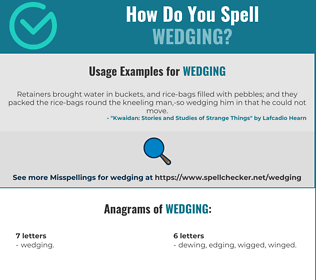 Correct spelling for Wedging