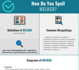 Correct spelling for Welked