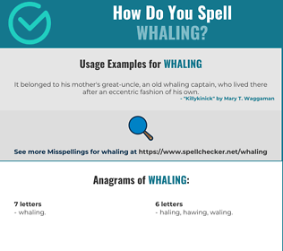 Correct spelling for Whaling