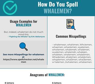 Correct spelling for Whalemen