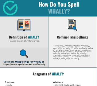 Correct spelling for Whally