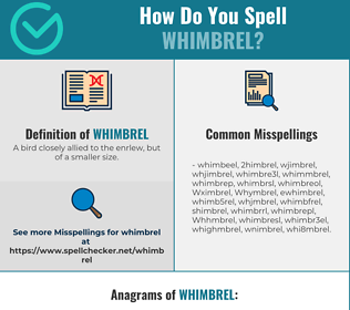 Correct spelling for Whimbrel