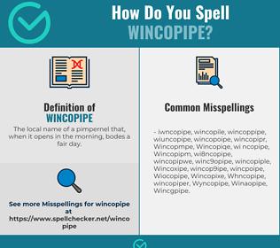 Correct spelling for Wincopipe
