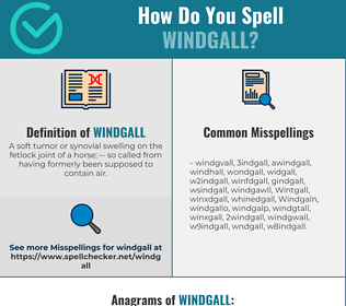 Correct spelling for Windgall