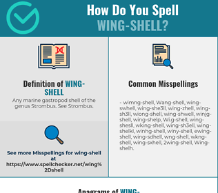 Correct spelling for Wing-shell