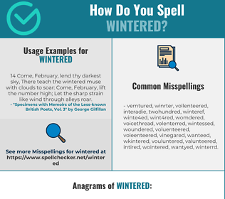Correct spelling for Wintered