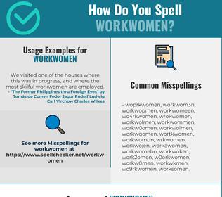 Correct spelling for Workwomen