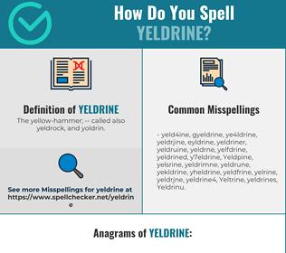 Correct spelling for Yeldrine