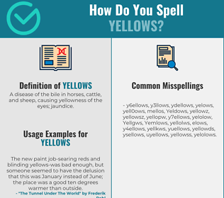 Correct spelling for Yellows