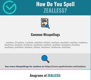 Correct spelling for Zealless