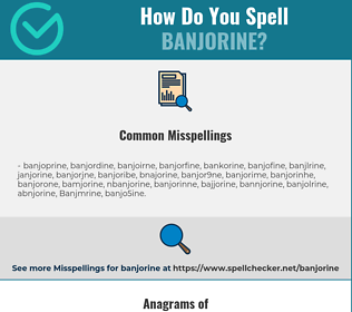 Correct spelling for Banjorine