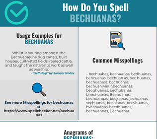 Correct spelling for Bechuanas