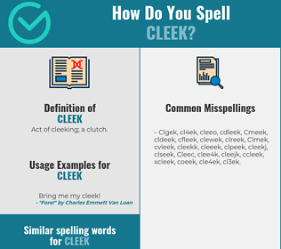 Correct spelling for Cleek