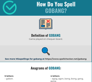 Correct spelling for Gobang