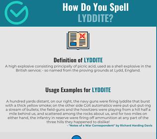 Correct spelling for Lyddite