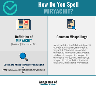 Correct spelling for Miryachit