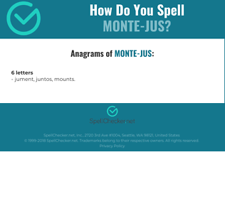 Correct spelling for Monte-jus