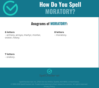 Correct spelling for Moratory