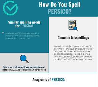 Correct spelling for Persico