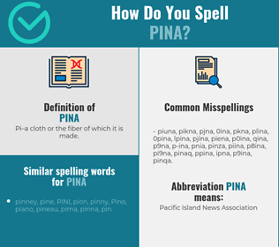 Correct spelling for Pina