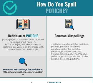Correct spelling for Potiche