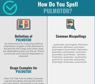 Correct spelling for Pulmotor