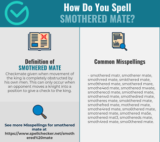 Correct spelling for Smothered mate