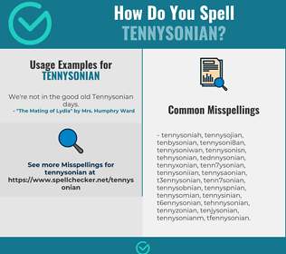 Correct spelling for Tennysonian