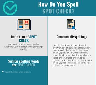 Correct spelling for spot check