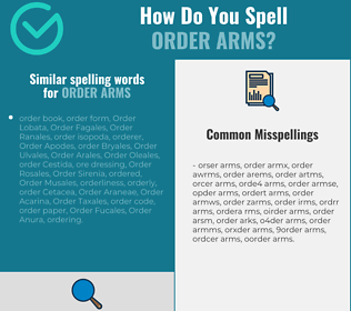Correct spelling for order arms