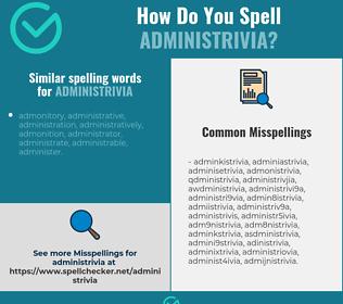 Correct spelling for administrivia